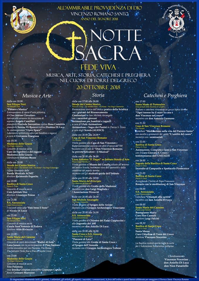 notte sacra evento locandina